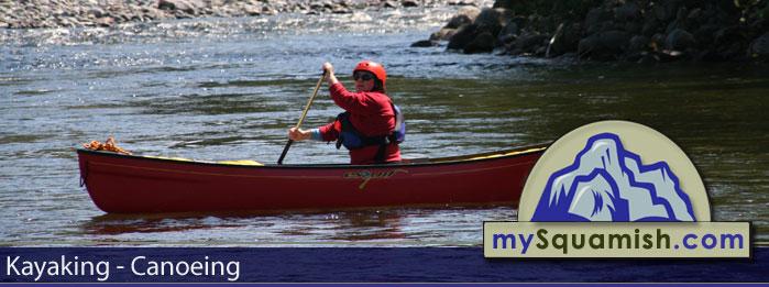 KAYAKING canoe in Squamish